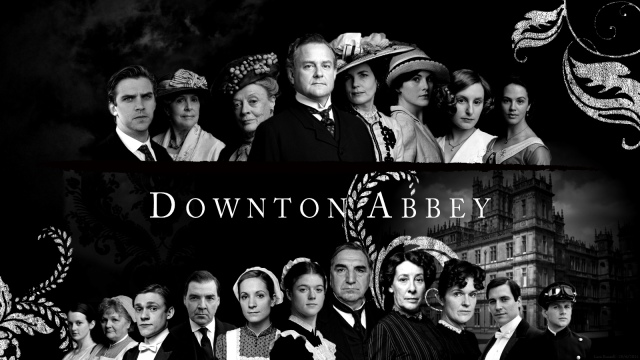 Downton Abbey B+W group shot