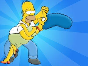 Simpsons-Homer + Marge dance