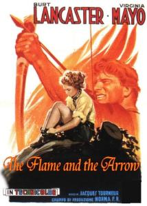 Flame and the Arrow-Italian poster