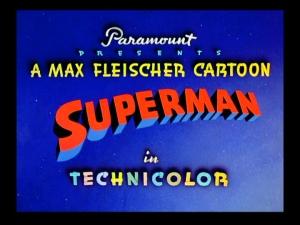 Fleischer Superman title
