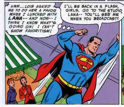 Superman-comic panel