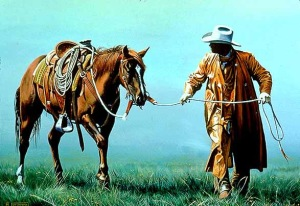 Cowboy & horse
