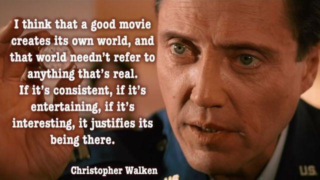 "Walken ""good movie"" quote"