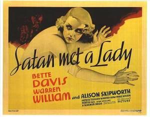 Satan Met a Lady-1936 poster