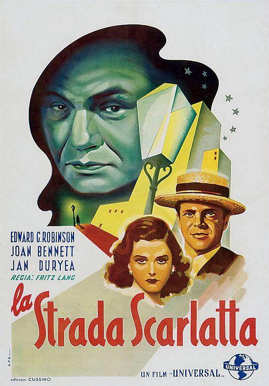 Scarlet Street-Italian poster