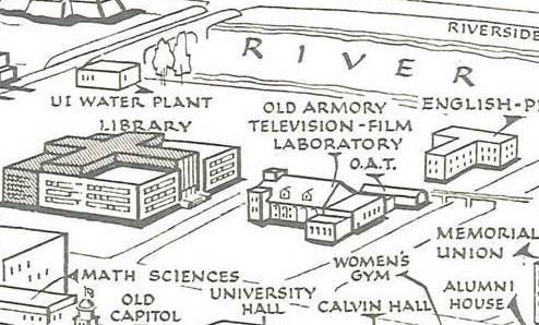 Old Armory on campus map