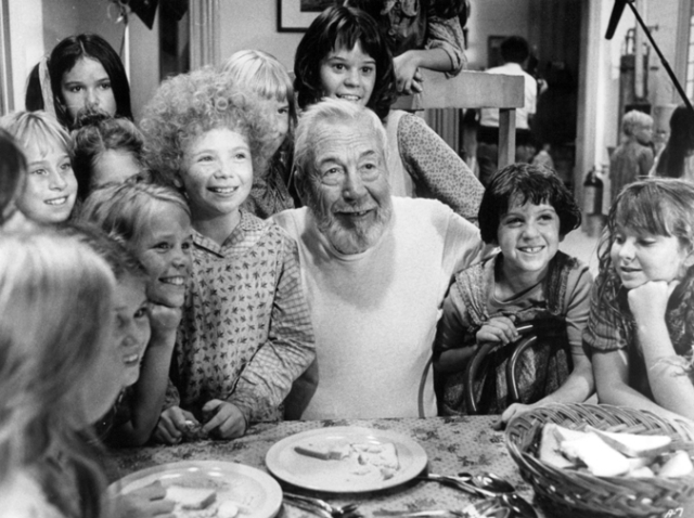 "Huston on the set of ""Annie"" - 1981"