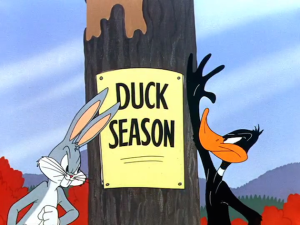 Duck Season-Bugs & Daffy