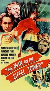 Man on the Eiffel Tower-poster