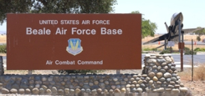 Beale AFB main gate sign2