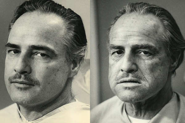 Brando-Godfather makeup