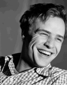 Brando-smiling in checked shirt