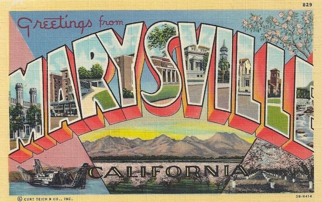 Marysville CA postcard