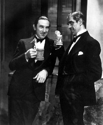 Bela Lugosi & Boris Karloff wishing you a great 2016.