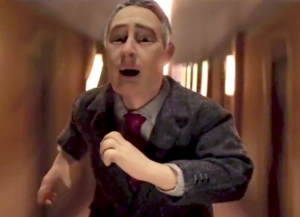 Anomalisa-Michael running in hall