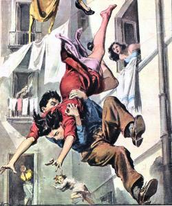 Walter Molino-catching falling woman