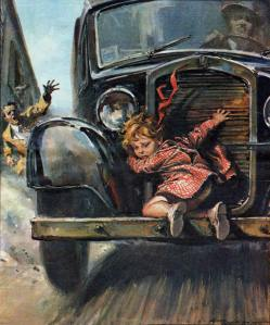 Walter Molino-child on front bumper