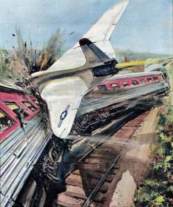 Walter Molino-jet hits train