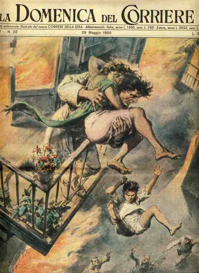 Walter Molino-jumping from fire