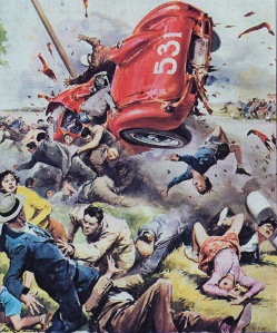 Walter Molino-race car hits crowd '57