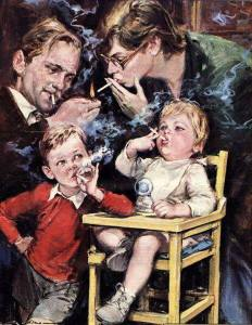 Walter Molino-smoking
