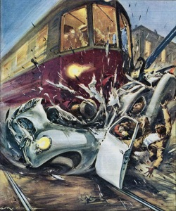 Walter Molino-train hits car '58